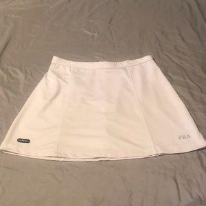 FILA White Athletic Tennis Skirt - Size Medium